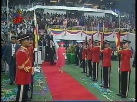 The Queen Declares Games Close - Closing Ceremony of Kuala Lumpur 98 XVI Commonwealth Games