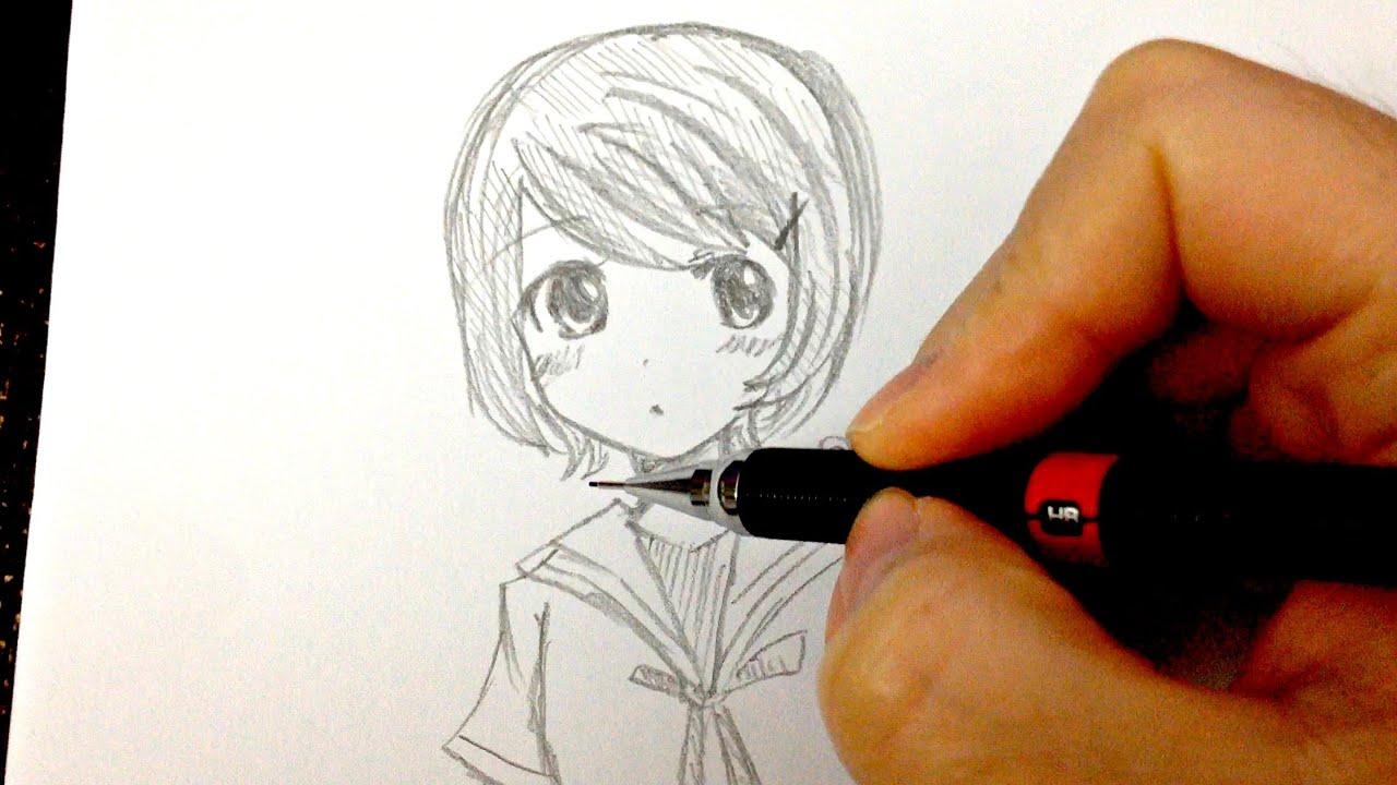 Draw a short hair girl 如何畫動畫人物 短頭髮畫法分享