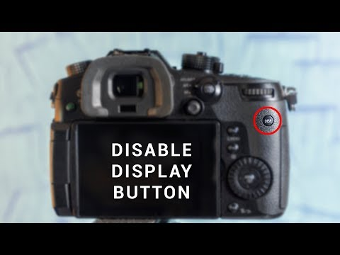"""How to disable the """"annoying"""" Display button on Panasonic GH5"""