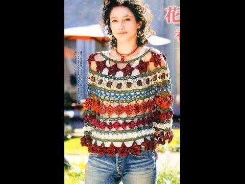 how to crochet a blouse free pattern*** طريقة بلوزات كروشيه بالباترون