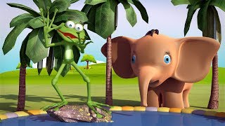 Frog and Baby Elephant / Songs For Kids Toddlers Children & Nursery Rhymes