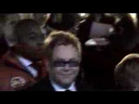 "SIR ELTON JOHN AT THE LONDON PREMIERE OF ""CASINO ROYALE"""
