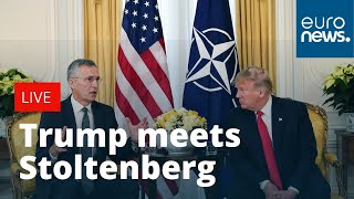 President Donald Trump holds bilateral meeting with NATO's Stoltenberg | LIVE