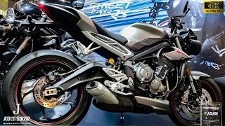 (4K)TRIUMPH 2017 Street Triple RS トライアンフ・新型 ストリートトリプルRS - 大阪モーターサイクルショー2017