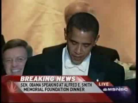 Obama at the Alfred E. Smith Memorial Dinner 10/16/08