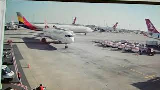 Asiana Airlines uça?? Atatürk Havaliman?'nda THY uça??na i?te böyle çarpt?