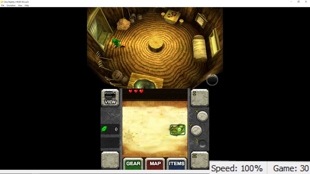 Zelda: Ocarina of Time 3D - Citra Emulator Full Speed on i7 6700 [HD]