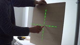 как определить центр потолочной плитки