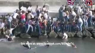 Bullfighting funny videos 2016   Most awesome bullfighting festival   1   Crazy bull attack people