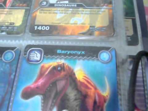Copie de mes cartes dinosaur king 1 re youtube - Carte dinosaure king ...