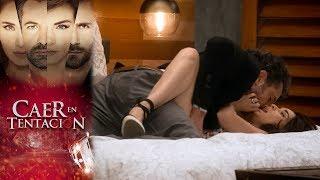 Damián enloquece de pasión por Carolina | Caer en tentación - Televisa