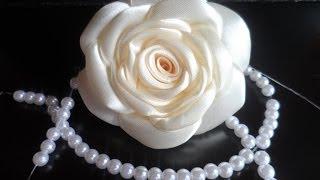 hand made : Роза из атласной ленты / D.I.Y. Rose of Satin ribbon(Здравствуйте дорогие друзья и сегодня у нас новый мастер класс hand made : Роза из атласной ленты. Для мастер..., 2014-06-24T15:07:23.000Z)
