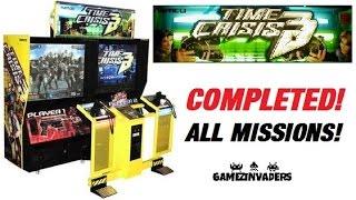 Namco TIME CRISIS 3 Arcade Game Complete Play Through!