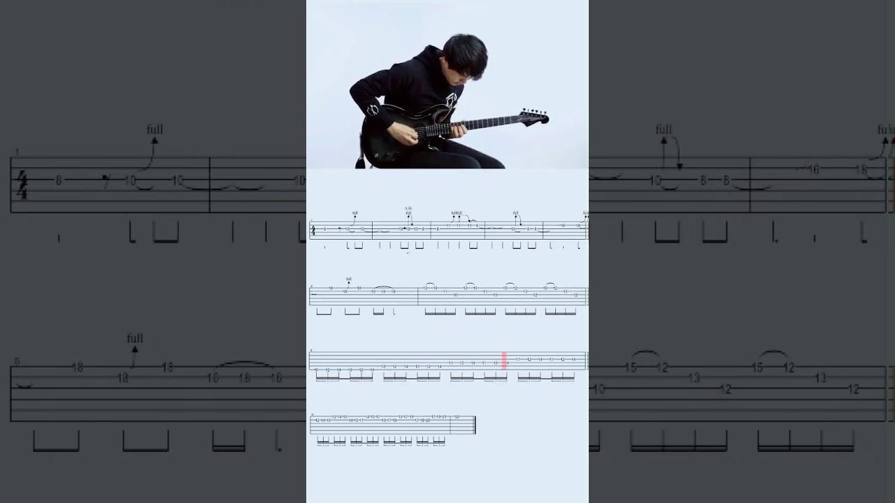 奔跑 電吉他間奏 曲譜 伴奏#音樂 #吉他 - YouTube