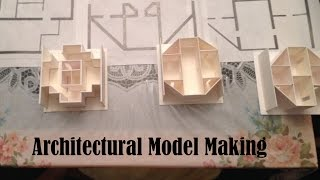 Making a 1:100 scale architectural model