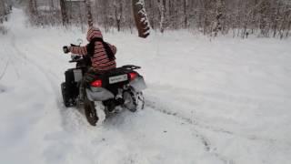 Квадроцикл Wels extrim 110 как едет по снегу (детский)(Как едет по снегу квадроцикл Wels extrim 110 детский., 2016-12-06T18:14:45.000Z)
