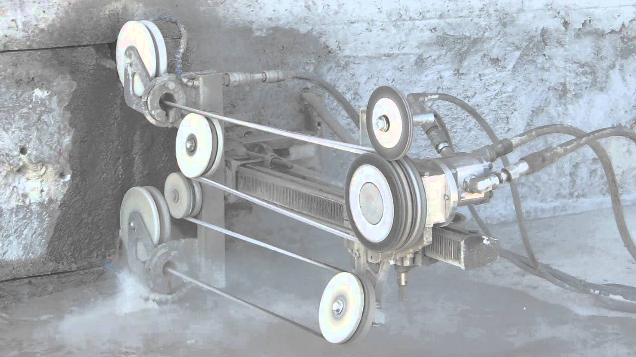 Wall Saws Hydrostress : Diy modified hydrostress sk b wiresaw at work youtube