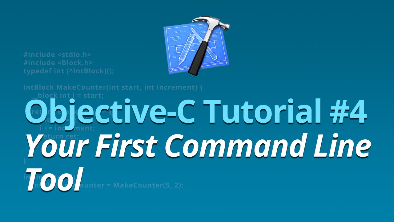 Objective-C Tutorial - #4 - Your First Command Line Tool