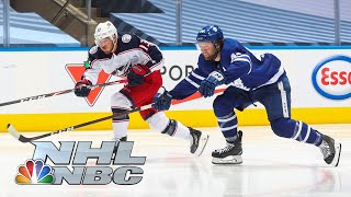 NHL Stanley Cup Qualifying Round: Blue Jackets vs. Leafs | Game 1 EXTENDED HIGHLIGHTS | NBC Sports