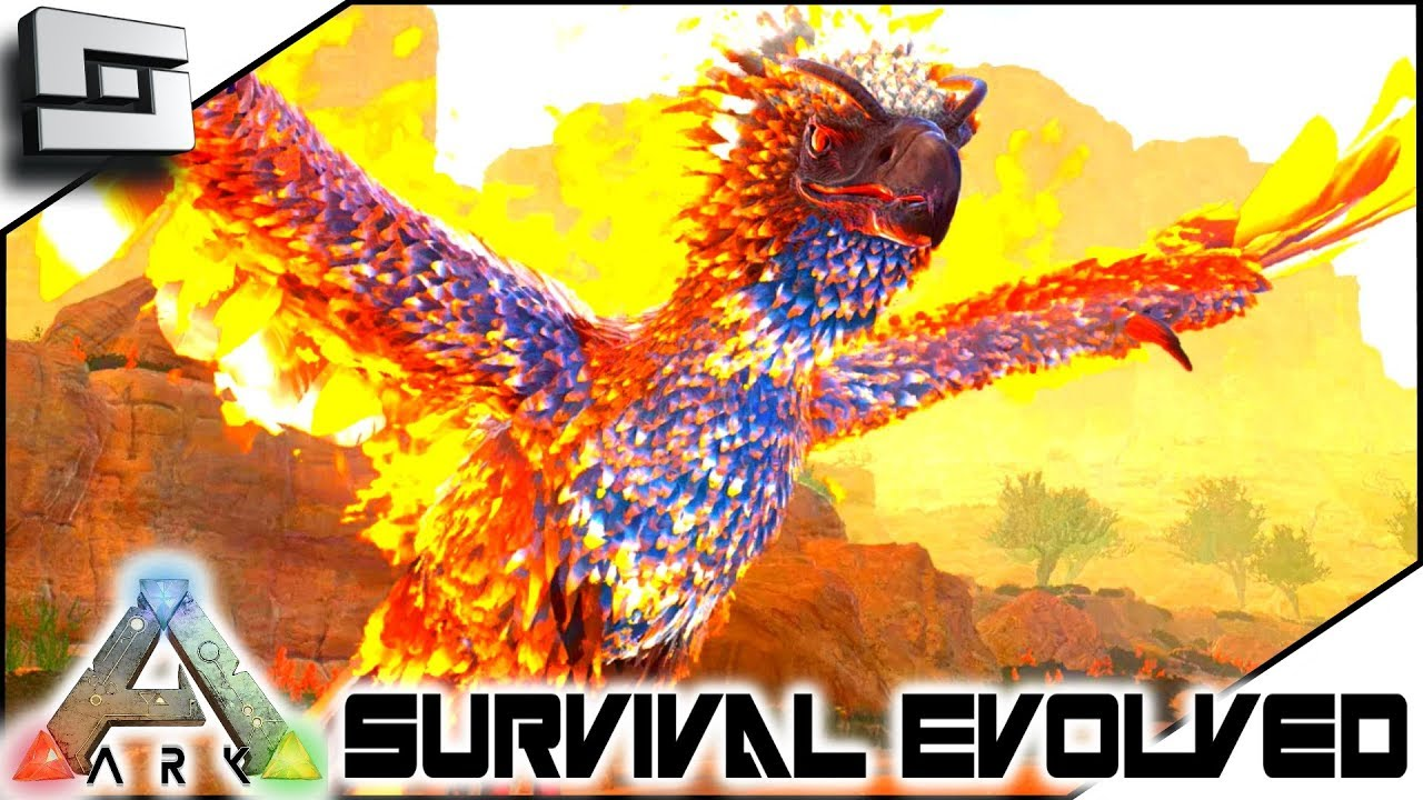 TAMING a PHOENIX! ARK: Survival Evolved Scorched Earth ...