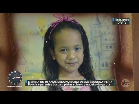 Família procura menina de 10 anos desaparecida desde segunda (27) | SBT Brasil (30/11/17)
