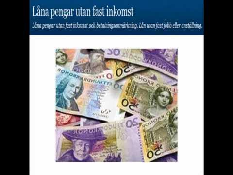 låna pengar utan fast inkomst