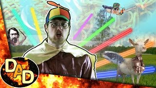 Hot Dad - Fun Time Laser Intercourse Beasts (Ninja Sex Party MEGA PARODY)