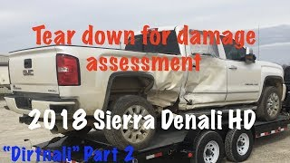 "2018 Sierra Denali AKA The ""Dirtnali"" Part 2 stripping the interior to see how bad the cab looks."