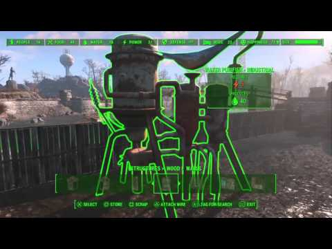 Fallout 4 - Settlement Tips - How to Raise Walls and Connect Things Better
