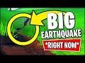 🔴 Fortnite *BIGGEST* Earthquake IS HAPPENING *RIGHT NOW* (Fortnite Earthquake Event Season 8)