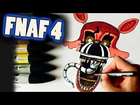 How To Draw Nightmare Foxy From FNaF 4 Step By Step Drawing Lesson