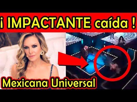 IMPACTANTE CAÍDA de Rebecca de Alba en Mexicana Universal (video)