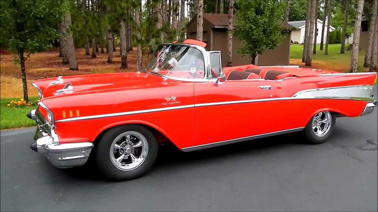 All Chevy 1957 chevy belair 4 door : 1957 Chevrolet Bel Air 2-Door Convertible - YouTube