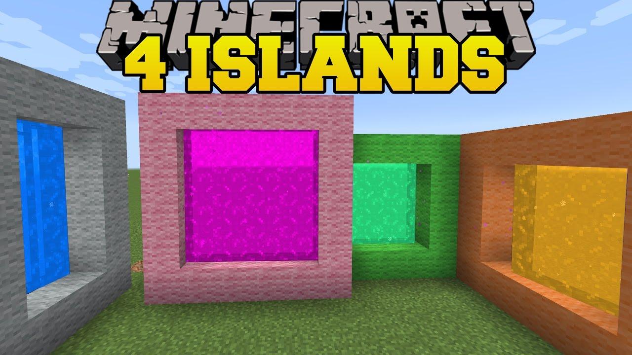Minecraft 4 Islands The 8 Islands Custom Map Youtube