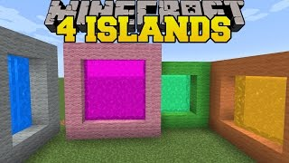 Minecraft: 4 ISLANDS! - THE 8 ISLANDS - Custom Map