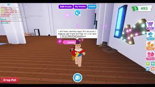 i finally got the parrort and give away information!-roblox-adopt me-rubyplayz