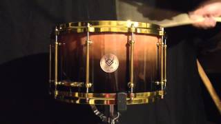 EMMETH CUSTOM DRUMS - 14x8 Dark honey/Black burst