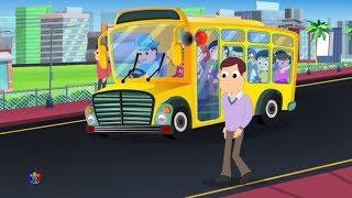 Колеса на автобусе   Питомник рифмы   Видео для малышей   Preschool Rhymes   Wheels On the Bus