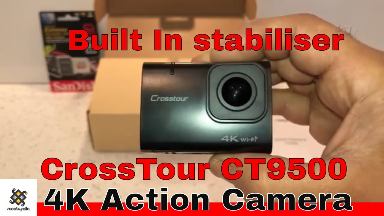 Crosstour CT9500 4K Action Camera Unboxing - YouTube 2e295db05589