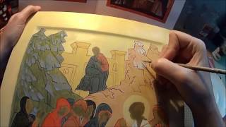 Этап 1.Первый пробел. Икона Жен Мироносиц у Гроба Господня.