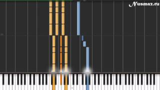 Кузя - Шняга Шняжная Piano Tutorial  (Synthesia + Sheets + MIDI)