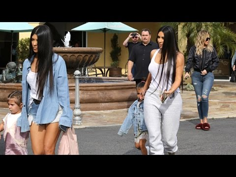 Kim Kardashian And The Girls Spend The Afternoon Together