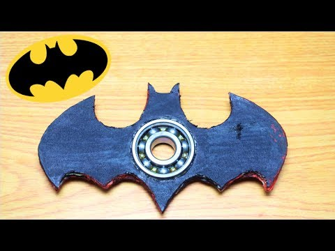 Batman Fidget Spinner How To Make | BATMAN in NERF WAR