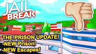 Why I DON'T like the new Jailbreak Update... (Roblox)