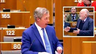 Farage vs Commissioner Timmermans: The EU
