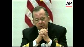 Chr of US Joint Chiefs of Staff comments on Iran, Afghanistan