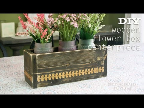 DIY Wooden Flower Box Centerpiece