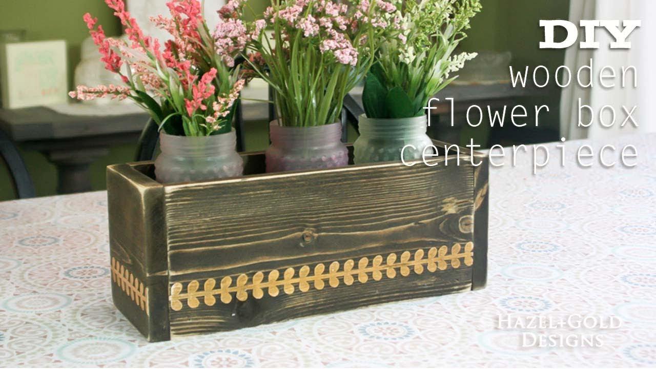 Diy wooden flower box centerpiece youtube