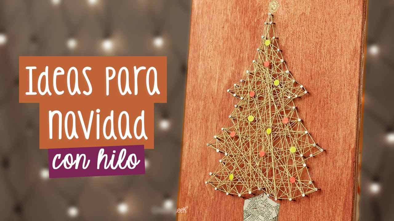 Rbol de navidad decoraciones navide as con hilo - Decoraciones de navidad ...