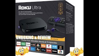 Unboxing Roku Ultra Review 2018 - HD/4K/HDR Streaming Media Player